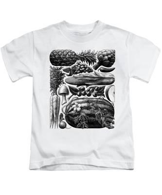 Farmer's Market - Bw Kids T-Shirt