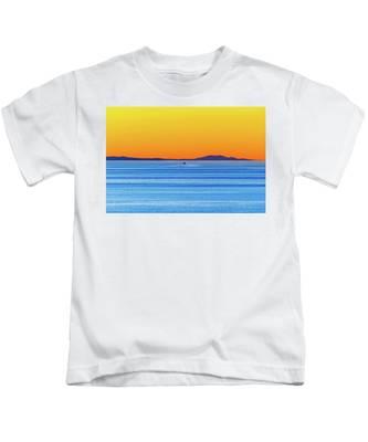 Golden Sunset Series I I Kids T-Shirt