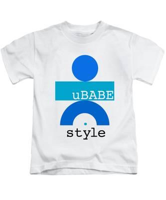 Ocean Blue Babe Kids T-Shirt