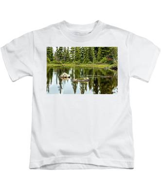 Rocks In A Mountain Pond Kids T-Shirt