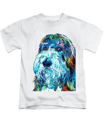 Bearded Collies Kids T-Shirts