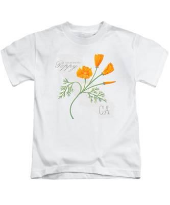 California Poppies Kids T-Shirts