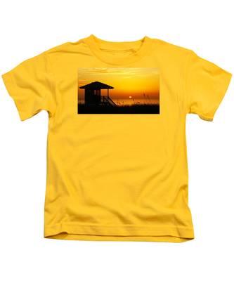 Sunrise Lifeguard Station Kids T-Shirt