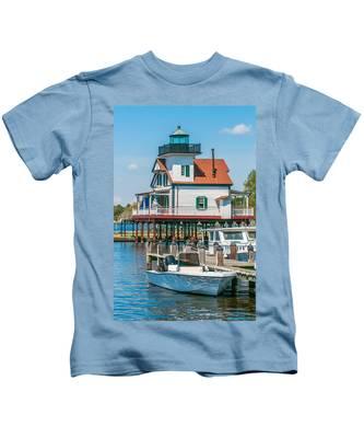 Town Of Edenton Roanoke River Lighthouse In Nc Kids T-Shirt
