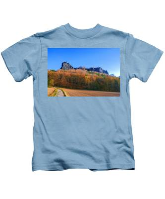 Fall Colors Around The Lilienstein Kids T-Shirt
