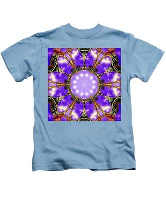 Kids T-Shirt featuring the digital art Flowergate by Derek Gedney