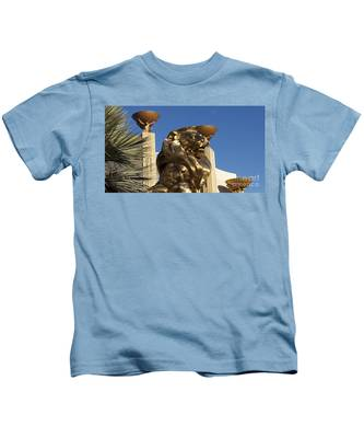 Kids T-Shirt featuring the photograph Mgm  by Bridgette Gomes