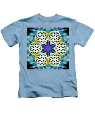 Kids T-Shirt featuring the digital art Subatomic Orbit by Derek Gedney