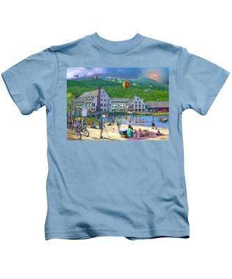 Summer In Waterville Valley Kids T-Shirt