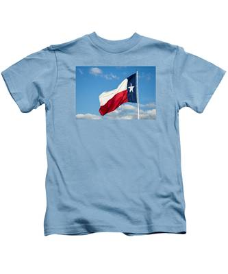 State Flag Of Texas Kids T-Shirt
