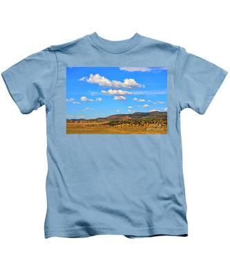 Cloudy Wyoming Sky Kids T-Shirt