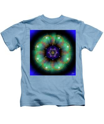 Sacred Geometry 638 Kids T-Shirt by Endre Balogh