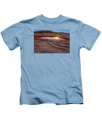 Awakening At Mesa Arch Kids T-Shirt