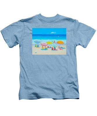 Beach Painting - Catching The Breeze Kids T-Shirt
