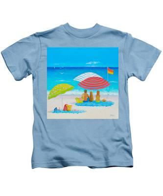Beach Painting - Endless Summer Days Kids T-Shirt