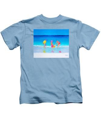 Beach Painting - Water Play  Kids T-Shirt