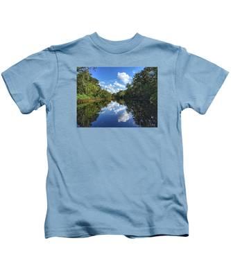 Blue Cloud Reflections  Kids T-Shirt