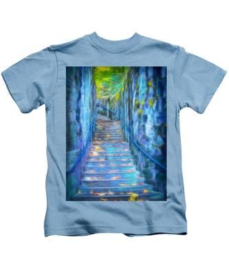 Blue Dream Stairway Kids T-Shirt