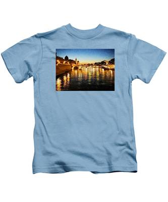Bridge Over The Seine Kids T-Shirt