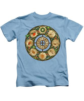 Celtic Wheel Of The Year Kids T-Shirt