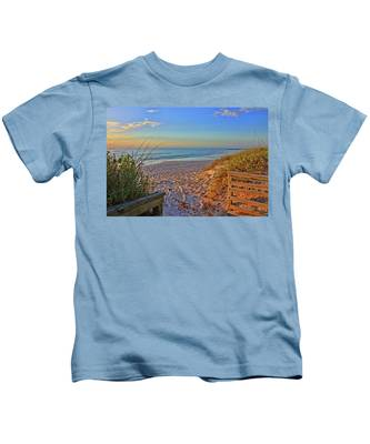 Coquina Beach By H H Photography Of Florida  Kids T-Shirt