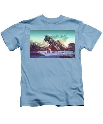 Derelict Ship Kids T-Shirt
