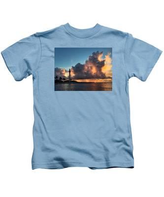 Lighthouse In Orange Kids T-Shirt