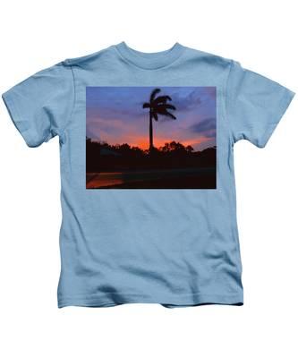 Miami Sunset Kids T-Shirt