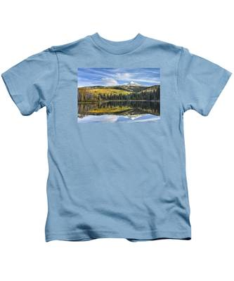 Mountain Lake Reflection Kids T-Shirt