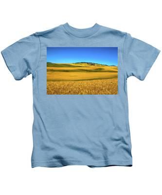 Palouse Wheat Field Kids T-Shirt