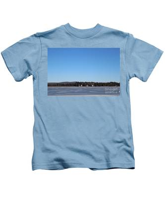 Poconos, The Lake In January Kids T-Shirt