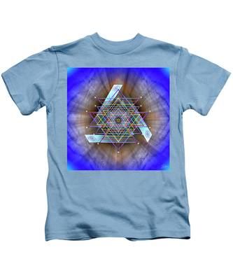 Kids T-Shirt featuring the digital art Sacred Geometry 717 by Endre Balogh