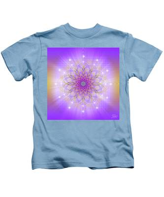 Kids T-Shirt featuring the digital art Sacred Geometry 721 by Endre Balogh