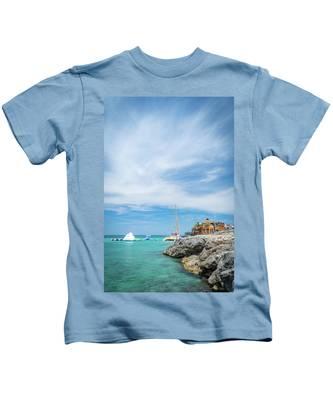Coastline Sailing In Montego Bay Kids T-Shirt