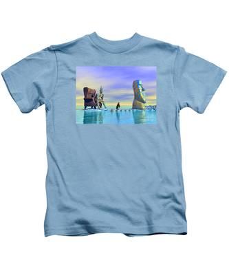 Silent Mind - Surrealism Kids T-Shirt