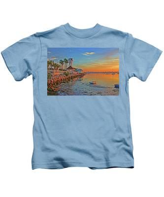Sunrise At The Pier Kids T-Shirt