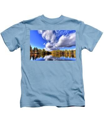 Tamarack Reflections In The Adirondacks Kids T-Shirt