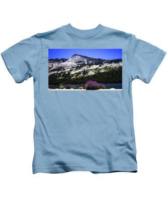 Tanaya Lake Wildflowers Yosemite Kids T-Shirt