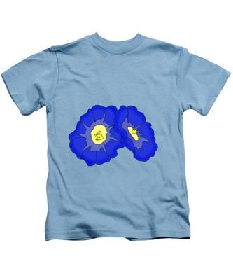 Two Morning Glories Kids T-Shirt