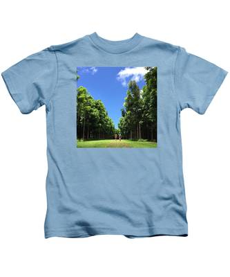 Walking Into The Woods Kids T-Shirt