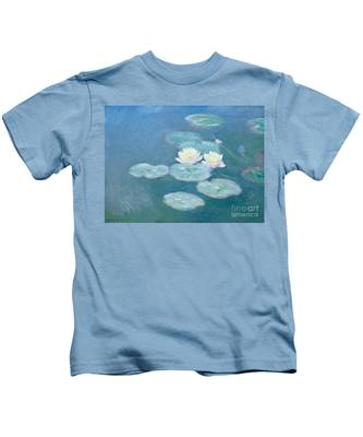 Waterlilies Evening Kids T-Shirt