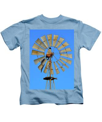 Kids T-Shirt featuring the photograph Windmill by Bridgette Gomes