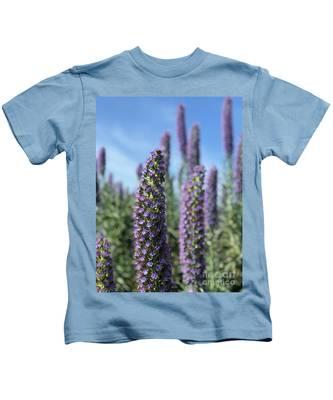 Purple Hyssop  Kids T-Shirt by Bridgette Gomes