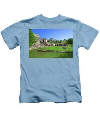 Temples Of Tulum Kids T-Shirt