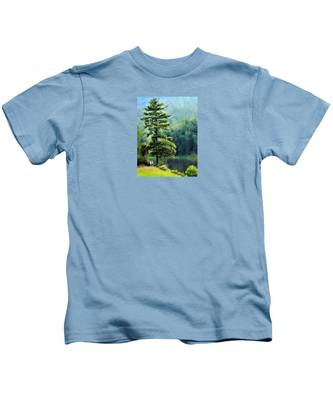 Two Guys And A Pond Kids T-Shirt