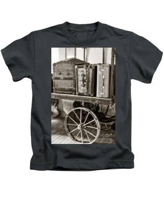 Train Station Luggage Cart Kids T-Shirt