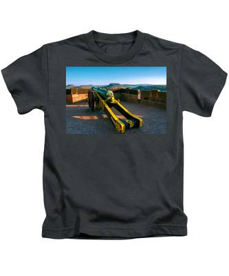 Cannon At The Fortress Koenigstein Kids T-Shirt
