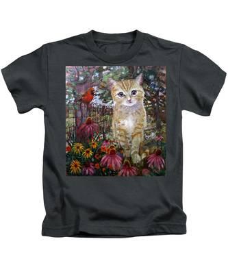 Front Yard Kitty Kids T-Shirt