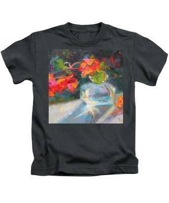 Gleaning Light Nasturtium Still Life Kids T-Shirt