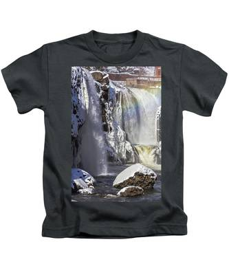 Great Falls And A Rainbow Kids T-Shirt